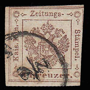 Austria #PR4 Fine Used 1858 issue APS cert