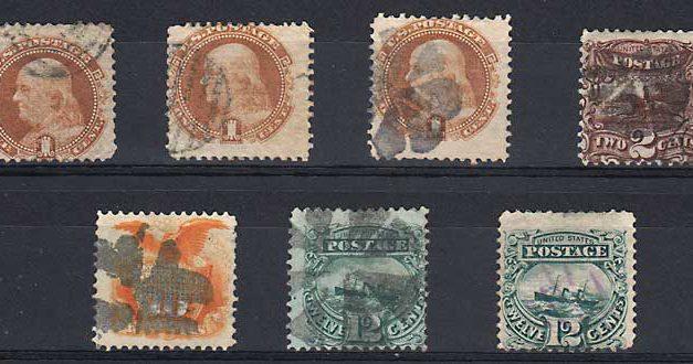 U.S.A. #112/117 VG/F Used 1869 Group sml flts
