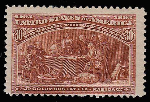 U.S.A. #239 Fine Never Hinged 1893 30c Columbian