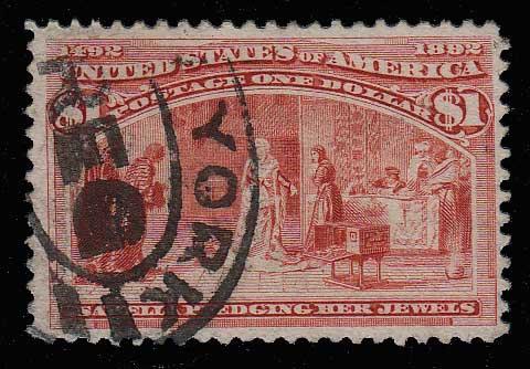 U.S.A. #241 Fine Used 1893 $1 Columbian