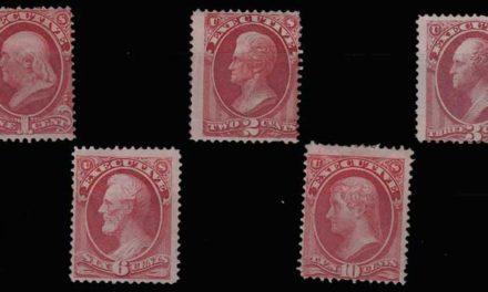 U.S.A. #O10-O14 gen Fine Mint HR 1873 Set