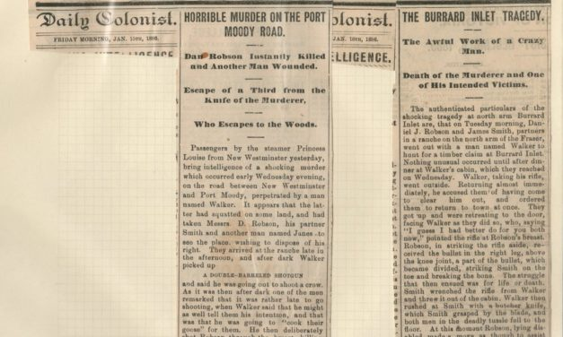 15 Jan 1886 Burrard Inlet Crime Newspaper clippings Page 81 Wellburn Vancouver
