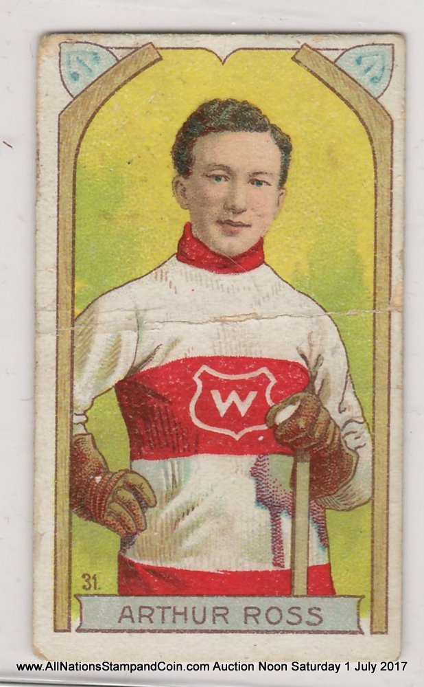 Art Ross 1911/1912 Imperial Tobacco #31 Hockey Card, central crease