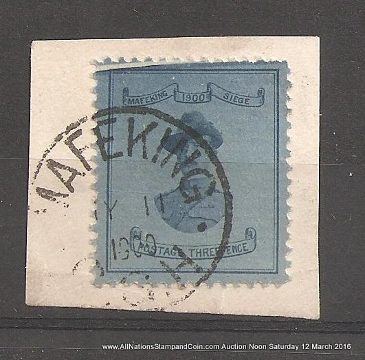 Cape of Good Hope #180 F/VF 3d cracked plate Mafeking on piece ex Danner