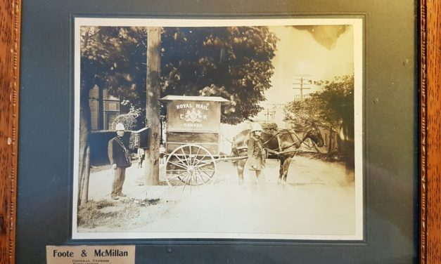 Foote & McMillan 1911 Vancouver, B.C. Express Co. Framed B&W Photo, ageing
