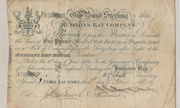 Hudson's Bay Company Fine 1868 York Factory Pound