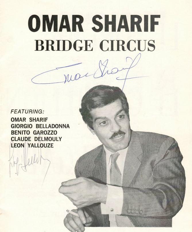 Omar Sharif & Claude Delmouly signed 1968 Montreal Bridge Circus Program