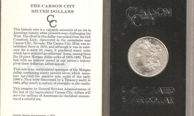 U.S.A. BU 1883CC boxed Carson City Silver Dollar in Government holder