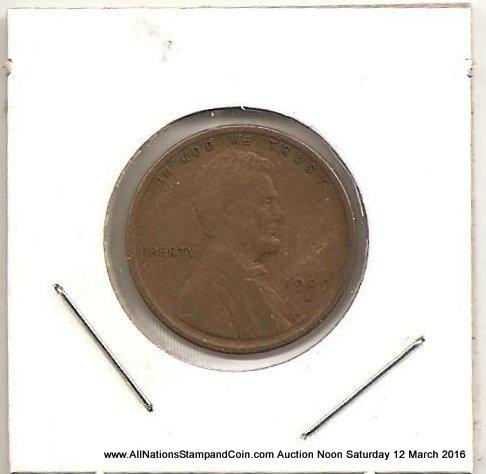 U.S.A. VF 1909S VDB Key Date Lincoln Cent