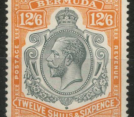 Bermuda #97 1932 12/6d George V
