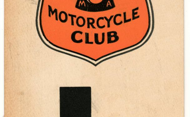 Greater Vancouver Motorcycle Club colour 51/4×91/4″ L Permit