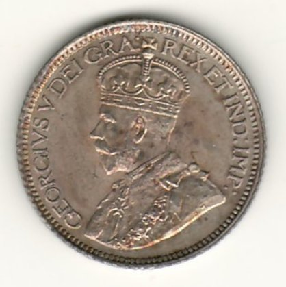 Lot 171 Canada Unc 1913 Broad Leaves Silver 10 Cents $9000. George V