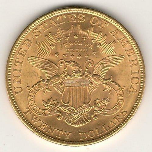 lot 188 U.S.A. BU 1904 Liberty Head $20 Gold Double Eagle .9675oz AGW