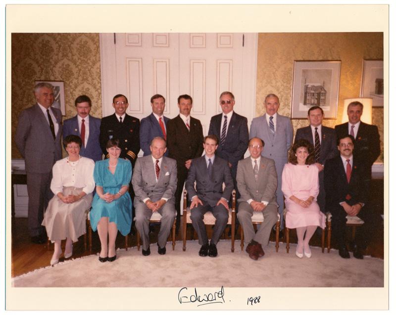 Prince Edward signed photograph 1988 Newfoundland visit
