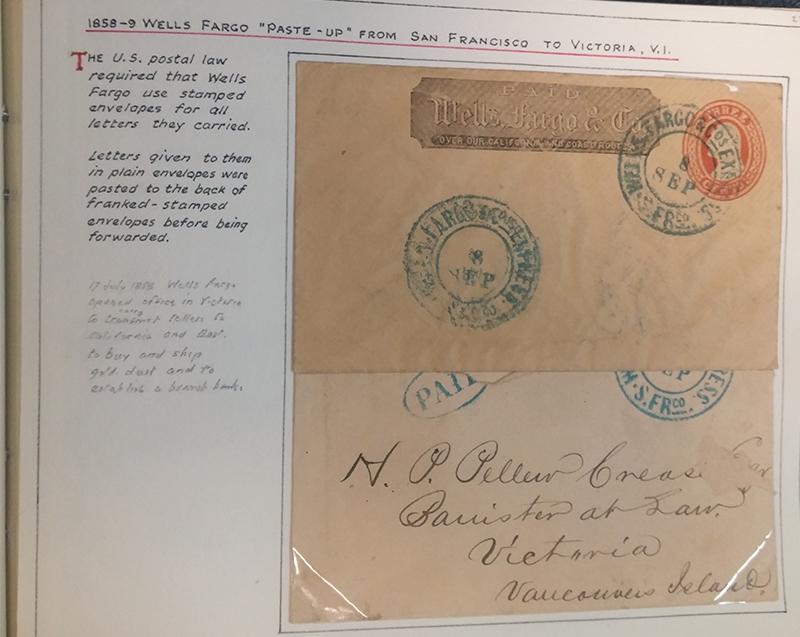 1858 Fraser River Gold Rush postal service