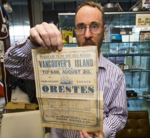Brian Grant Duff with poster for Orestes