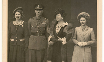 George VI & Queen Mum Signed Tuck Real Photo Christmas Card