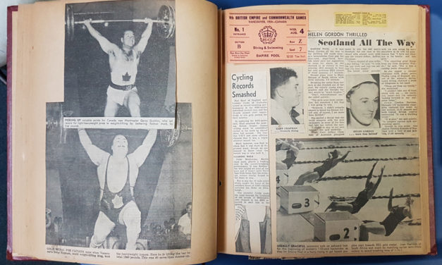 1954 Commonwealth Games in Vancouver, B.C. 60 page Scrapbook