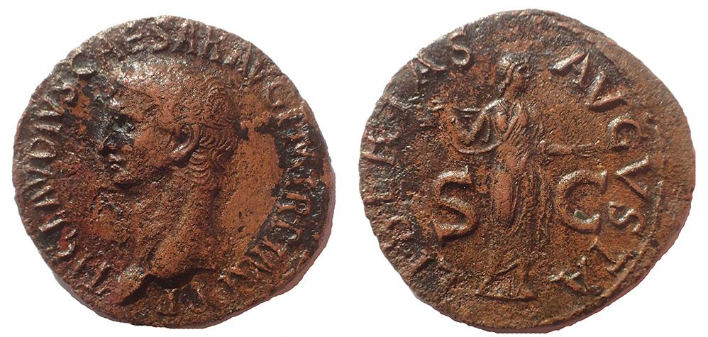 Claudius AE As with Libertas
