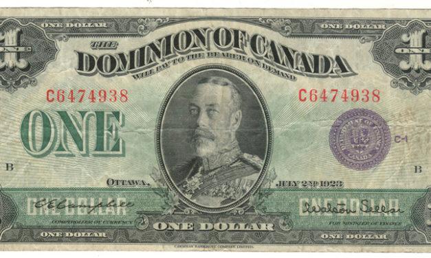 Dominion of Canada #DC-25l 1923 George V Horseblanket $1