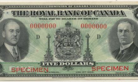 Royal Bank of Canada Unc 1935 Specimen $5