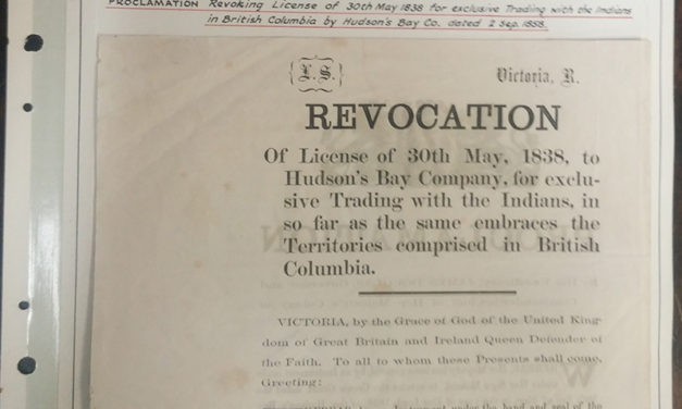 Page 6 Revocation of H.B.C. Royal Licence in 1858 Proclamation, Fraser River Gold Rush Collection