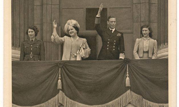 George VI & Elizabeth signed 1945 VE Day Christmas Card