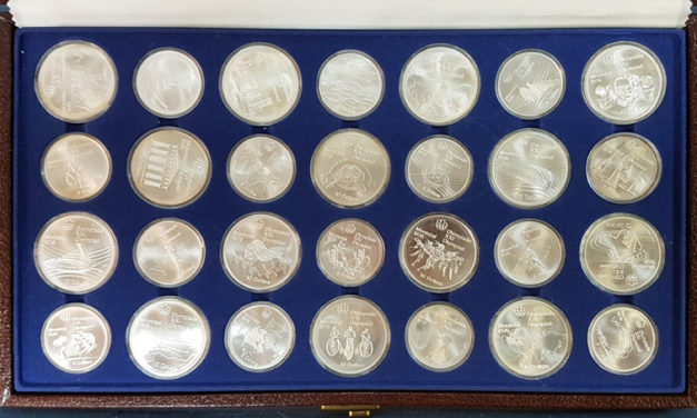 Canada 1976 Olympics cased 28-coin $5 & $10 Set