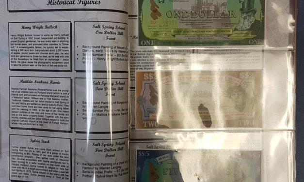 Salt Spring Island Unc 2001 5-note Collector's Set in original folder