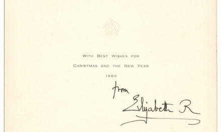 Queen Mum Signed 1960 Christmas Card