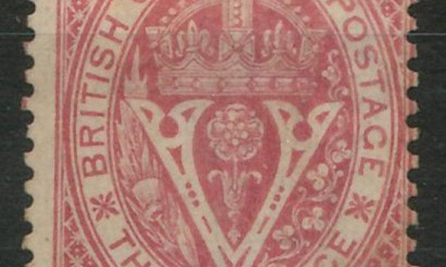 B.C. #10 Fine Mint HR 1867/71 10d on 3d Lilac Rose $1800.+