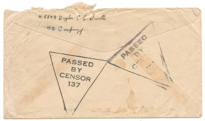 Back of cover PASSED BY CENSOR 137
