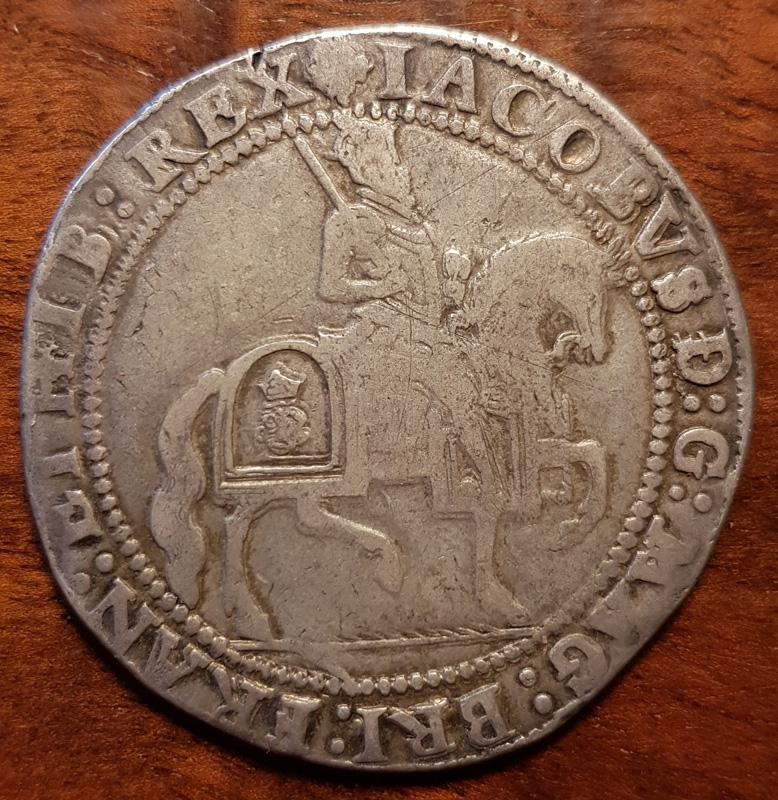 obverse showing King on horseback