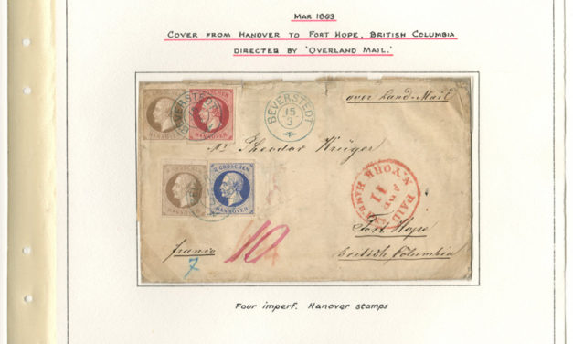 Page 16, incoming 1863 Hanover to Fort Hope Cover to Theodor Kruger