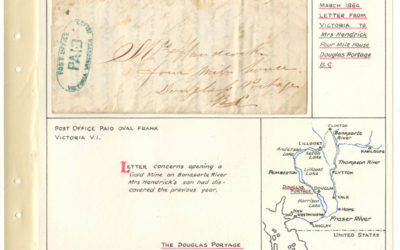 Page 19, March 1864 Victoria Paid Blue Oval Cover to Four Mile House, Douglas Portage, B.C.