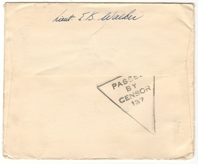 back of cover 'passed by censor 137'