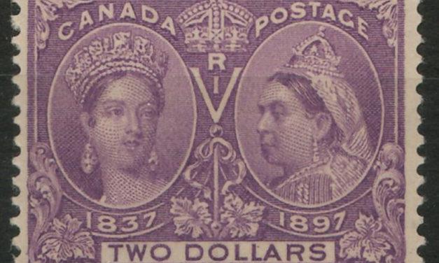 Canada #62 Fine+ Never Hinged 1897 $2 Jubilee