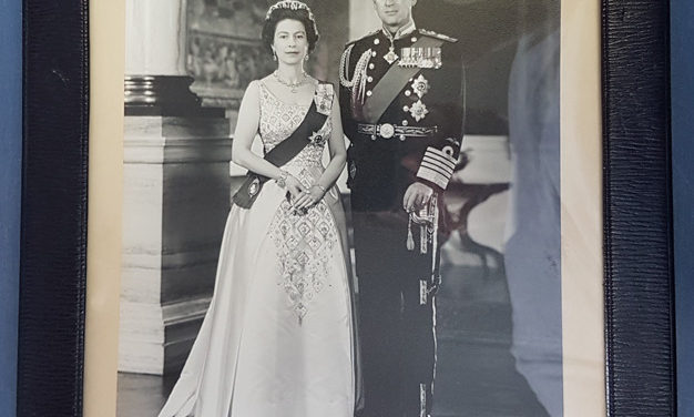 Queen Elizabeth II & Prince Philip signed, framed 1969 photo