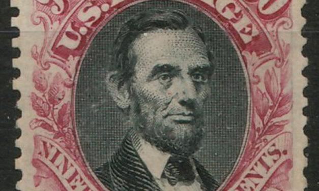 U.S.A. #132 Mint 1875 90c Lincoln reperfed
