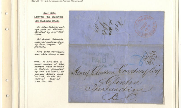 Page 20, 17 Sep 1864 G.P.O., P.O. Paid Victoria folded letter to Clinton