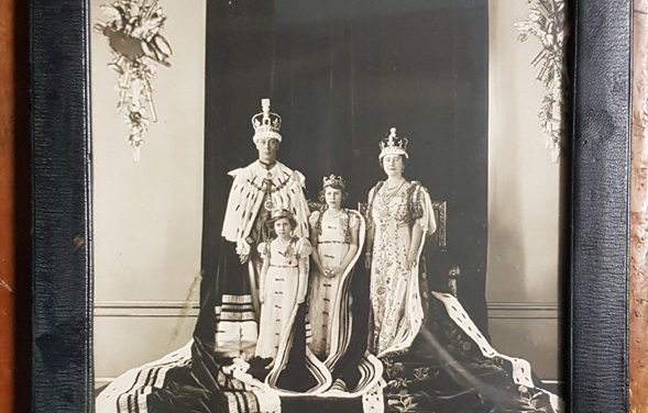 George VI & Queen Mum signed, framed 1937 Coronation photo