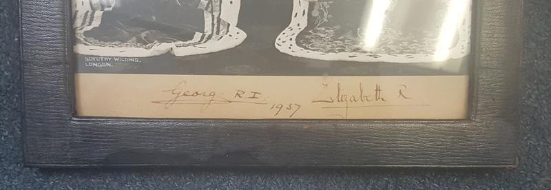 Royal Signatures at bottom of photograph