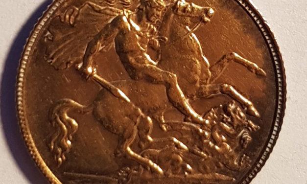 G.B. BU 1911 George V first year Gold Half Sovereign