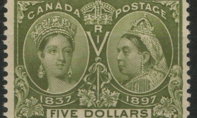 Canada #65 Fine+ Unused 1897 $5 Jubilee