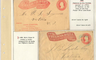 Page 26, Freeman & Co. 1858 Express Cover duo to Victoria, Fraser River Goldrush collection