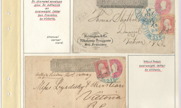 Page 30, Wells Fargo 1862 uprated San Francisco Covers to Victoria, Fraser River Gold Rush Collection