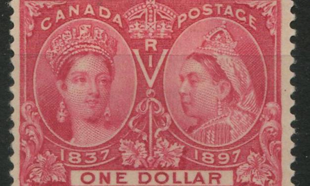 Canada #61 Fine+ Mint HR 1897 $1 Jubilee