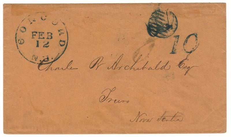 Handwritten address and cancels