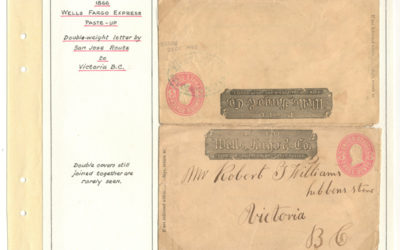 Page 31, Wells Fargo 1866 San Jose Route Double Weight Paste-up Cover to Victoria, Fraser River Gold Rush Collection