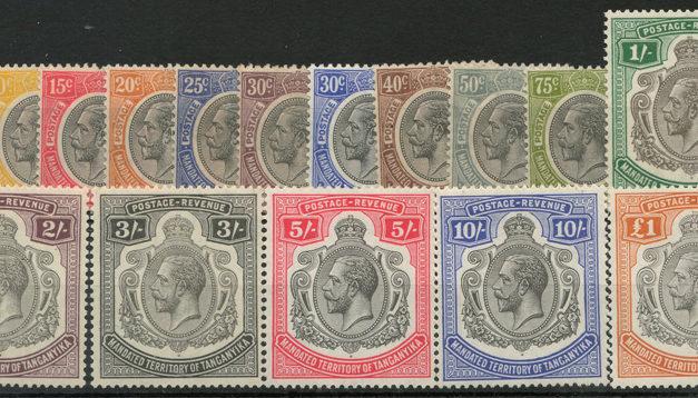 Tanganyika #29-44 Mint 1927/1931 George V Set US$567. (16)